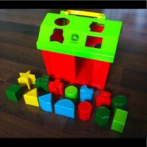 John Deere barn shape sorter toys baby toddler
